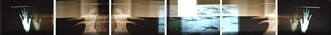 fotografische Sequenz sechsteilig