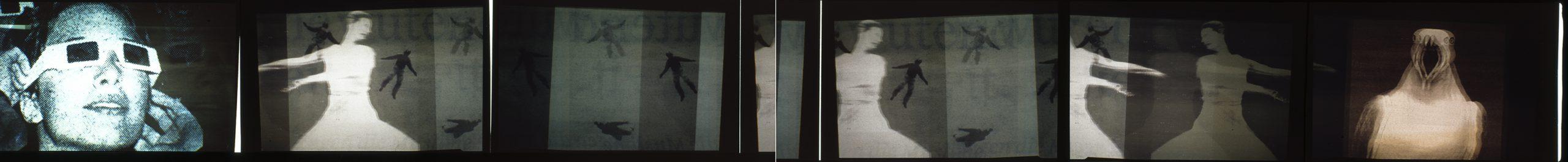 Fotografische Bildsequenz sechsteilig