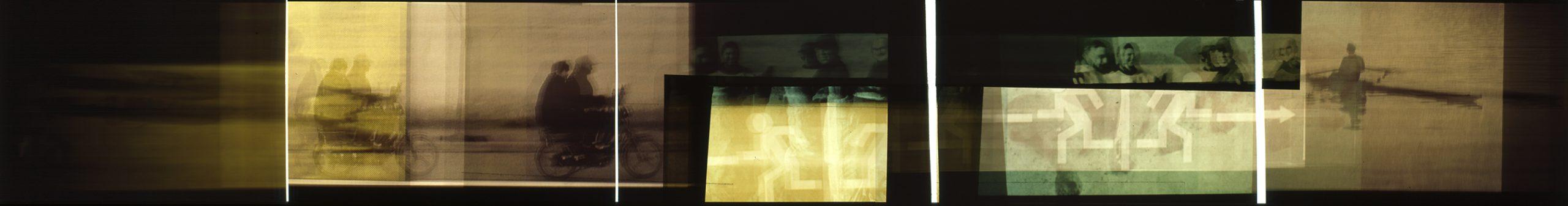 Fotografische Bildsequenz fünfteilig
