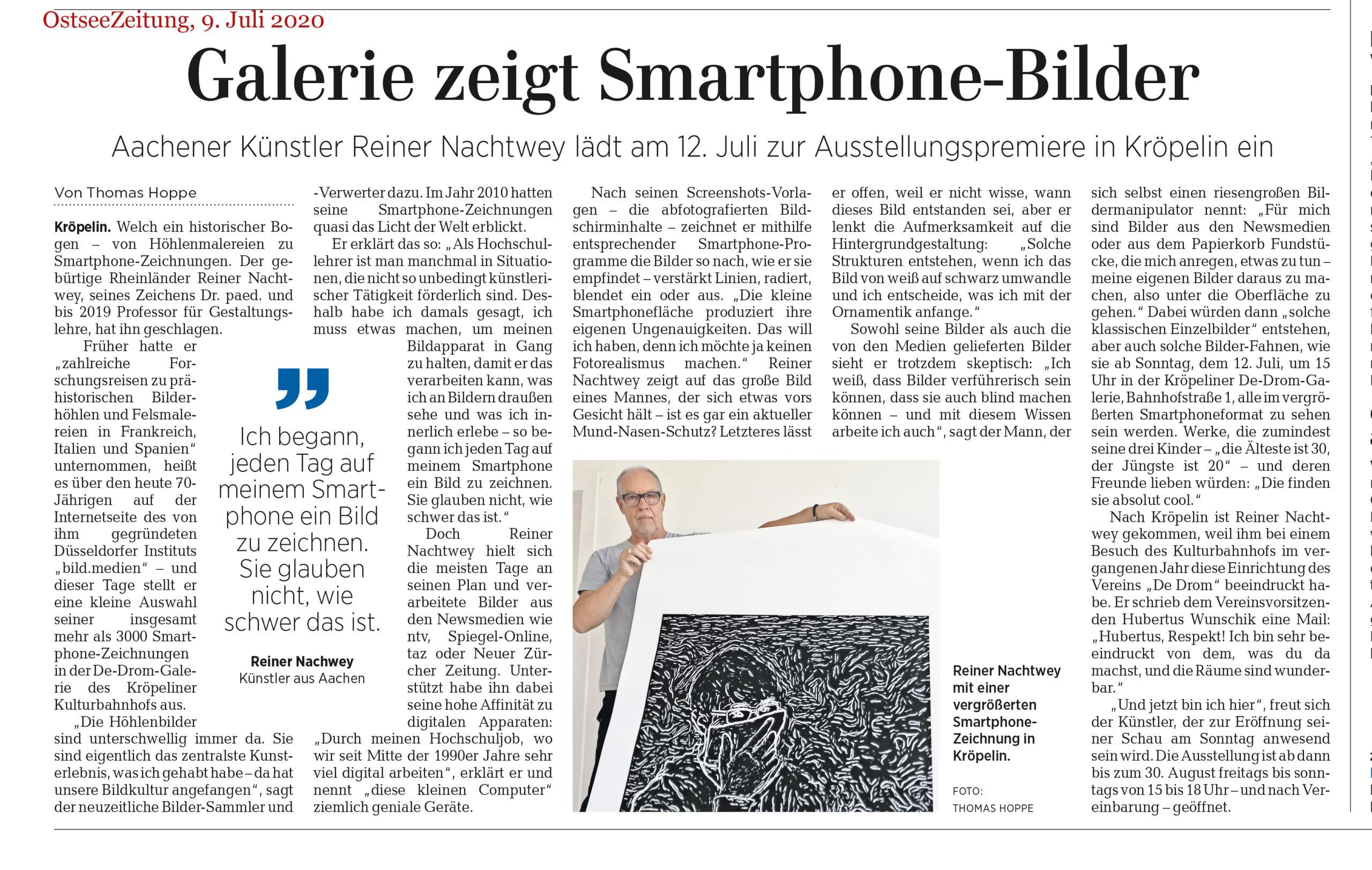 Ostseezeitung Artikel 9.7.2020