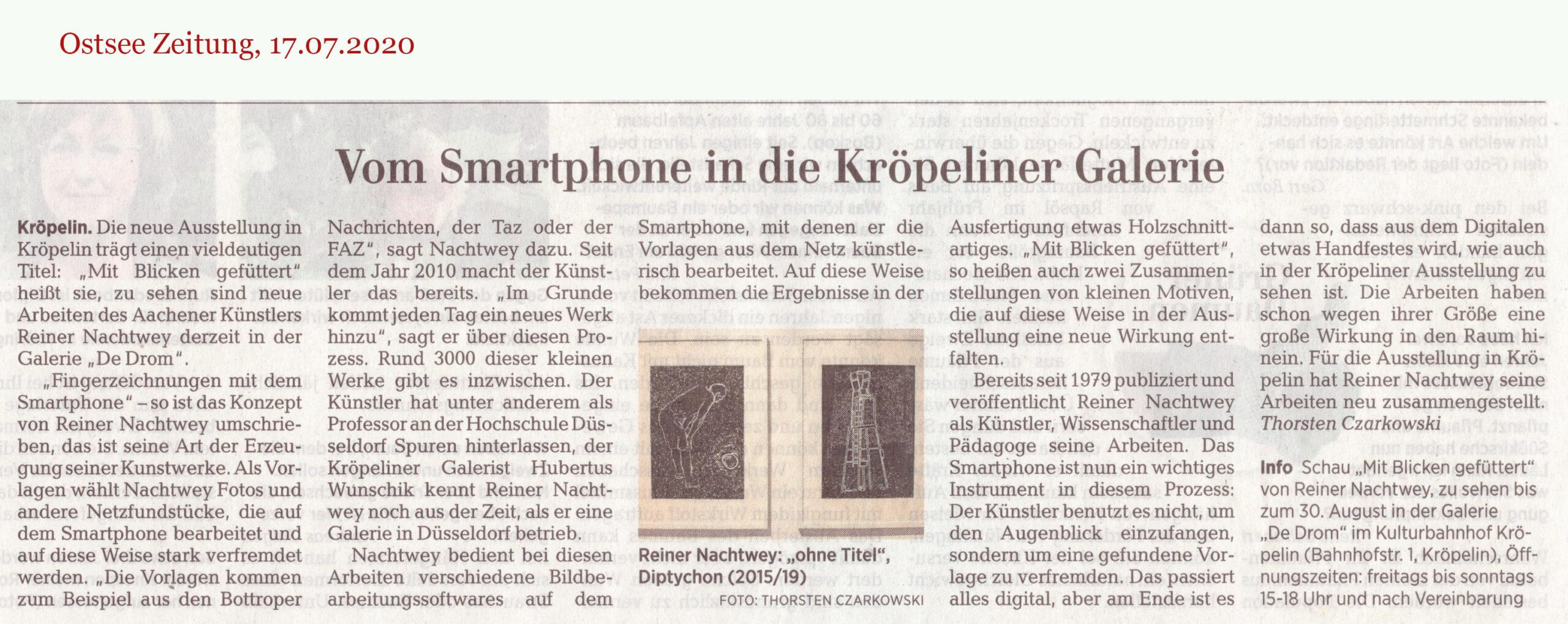 Ostseezeitung Artikel 17.7.2020