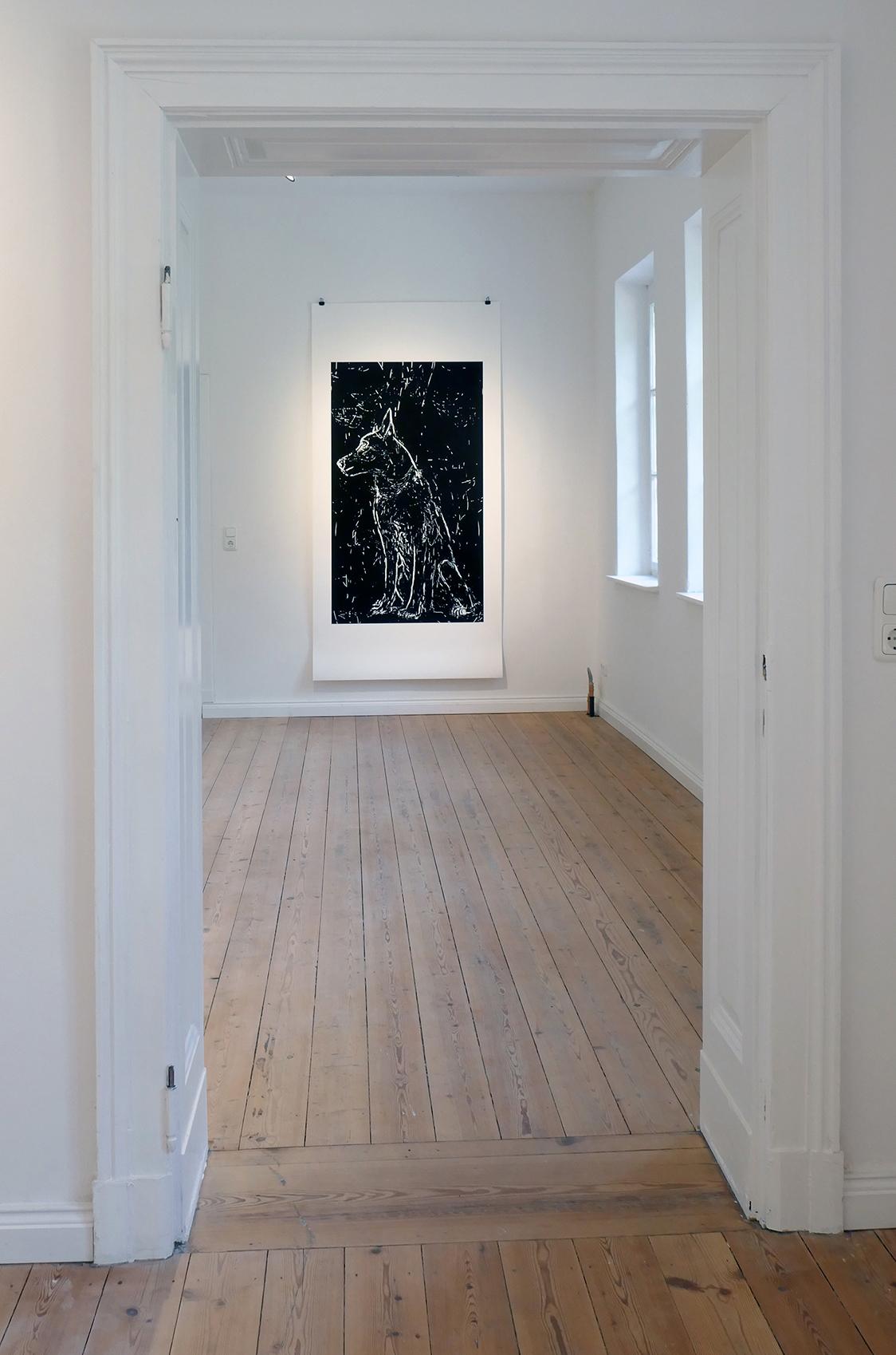 Ausstellung mit Blicken gefüttert große Einzeldrucke