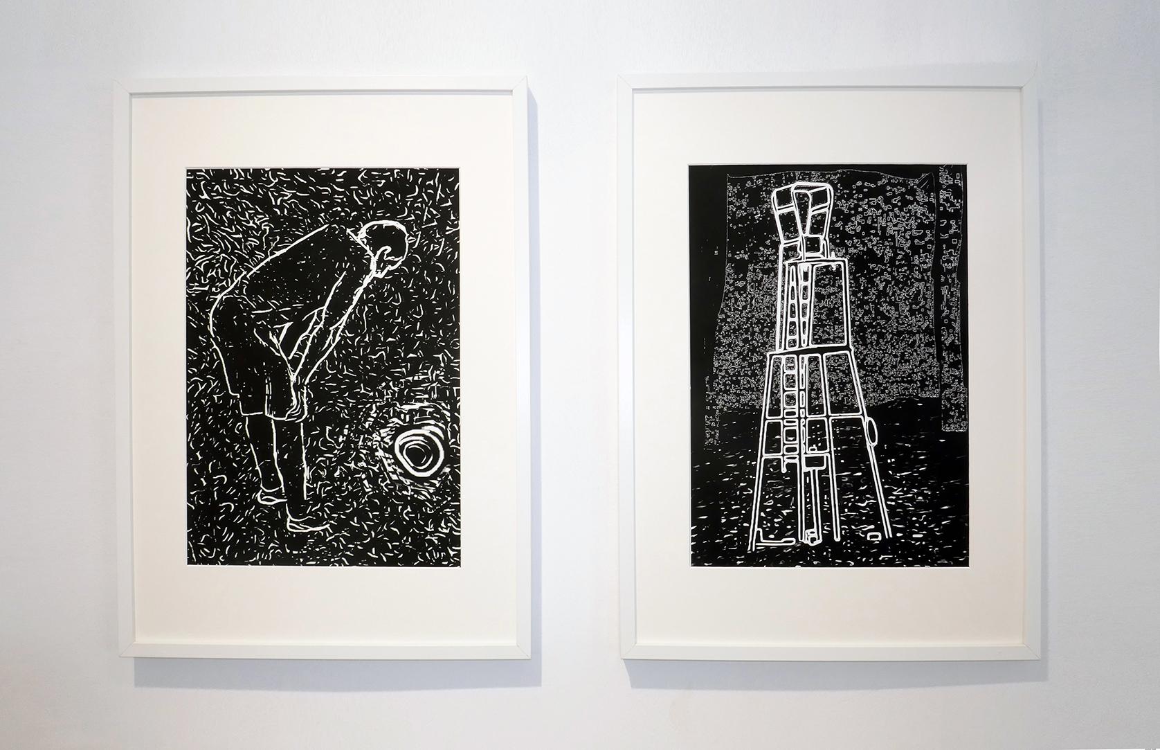Ausstellung mit Blicken gefüttert Doppelbilder