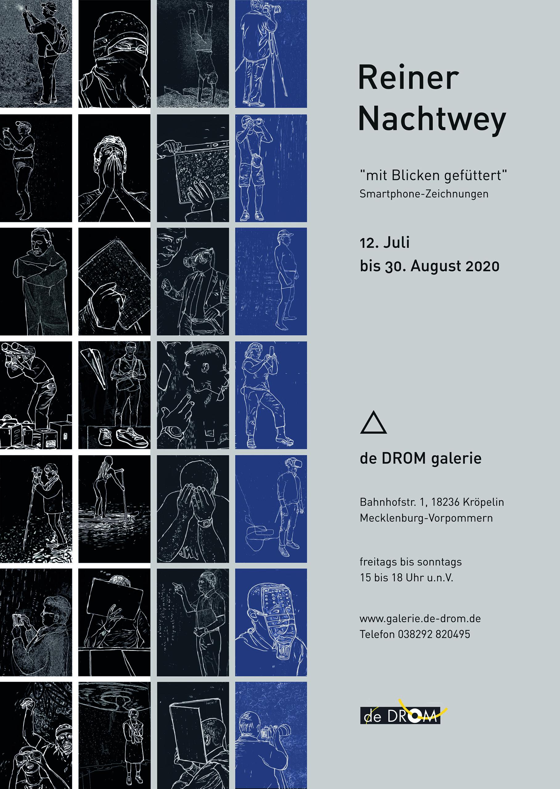 """Plakat zur Ausstellung """"mit Blicken gefüttert""""."""